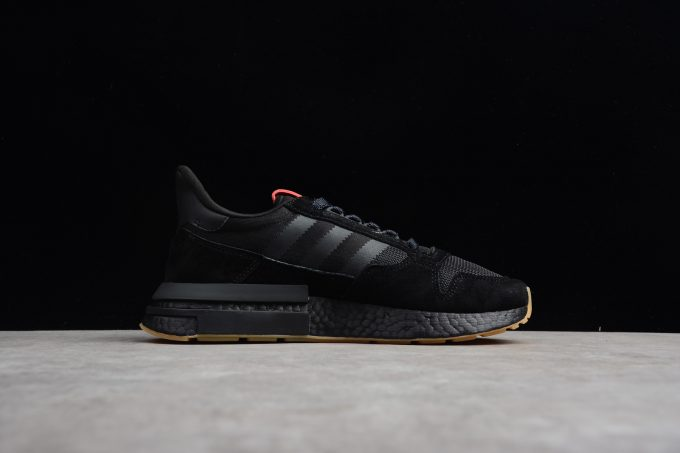 adidas ZX500 RM Boost Triple Black Running Shoes 1 680x453