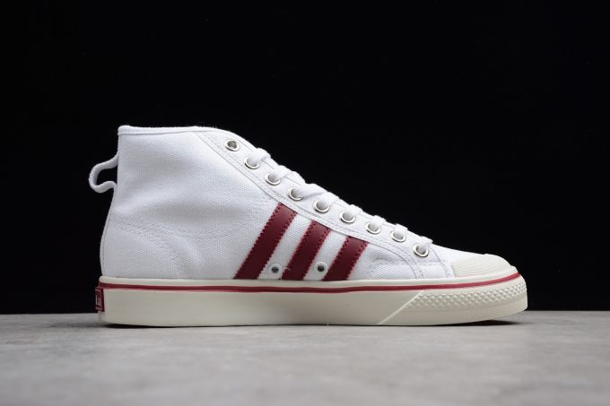 New adidas Nizza High Top White Red Mens and Womens Size 1 680x453