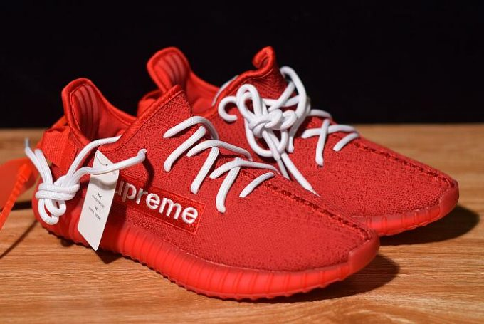 Supreme x adidas Yeezy Boost 350 V2 Red White 680x455
