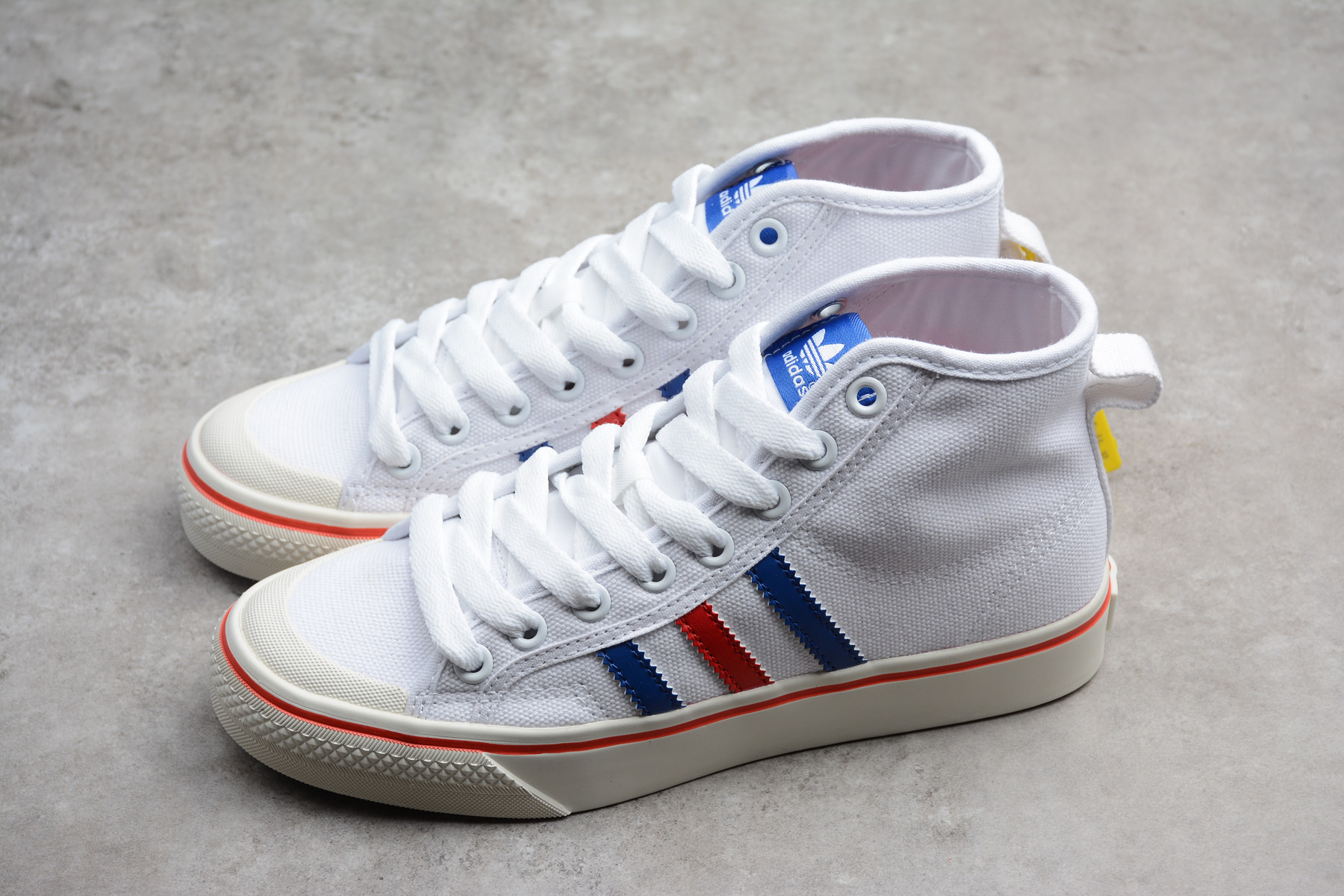 guapo la mejor moda diseño de moda 2018 New adidas Nizza Hi White/Royal Blue-Red AF6338