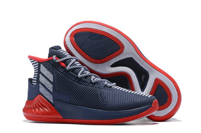 New adidas D Rose 9 Navy Blue Red White For Sale 680x453