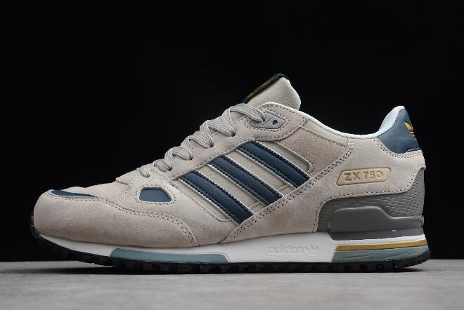 adidas Originals ZX 750 Grey Blue Mens Running Shoes