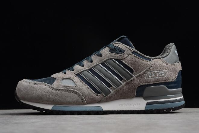 adidas Originals ZX 750 Wolf Grey Navy Blue