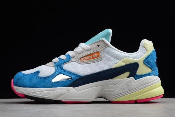 WMNS adidas Falcon White Blue Yellow Red