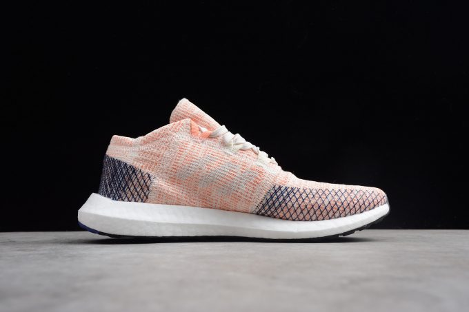 adidas Pure Boost GO Pink White Blue Shoes 1 680x453