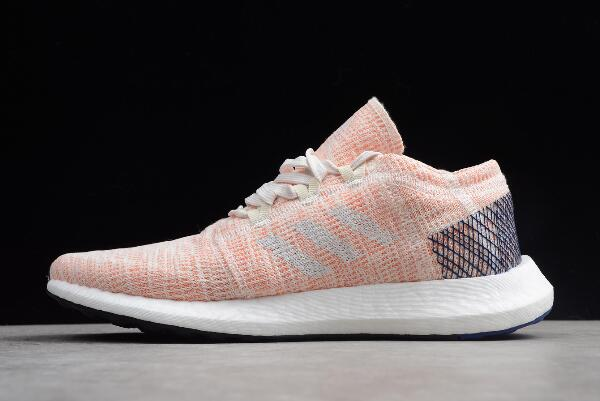 adidas Pure Boost GO Pink White Blue Shoes