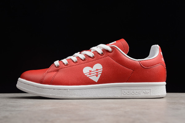 New adidas Stan Smith Valentines Day Bright Red White Limited Edition Shoes
