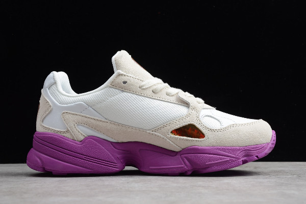 WMNS adidas Originals Falcon W White Grey Purple 1