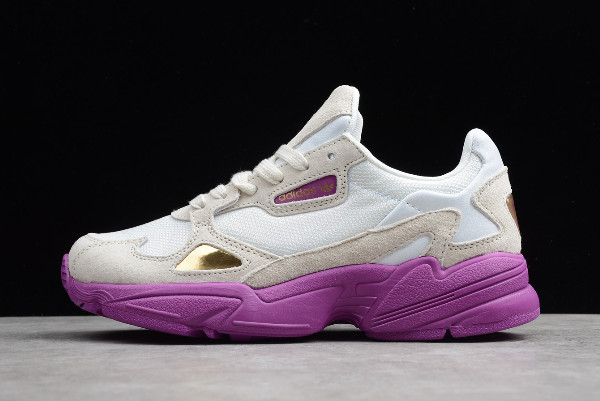 WMNS adidas Originals Falcon W White Grey Purple