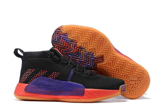 adidas Dame 5 Black History Month Black Red Purple 1 680x455