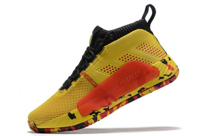 adidas Dame 5 Bruce Lee Yellow Black Red 680x455