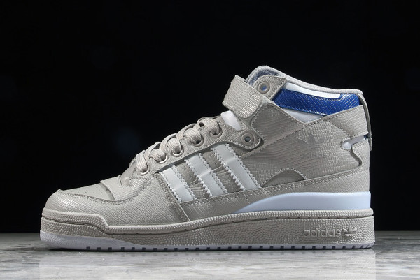 adidas Forum Mid Grey Snake Blue Shoes