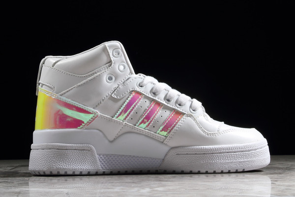 adidas Womens Forum Mid Refined White Pink 1