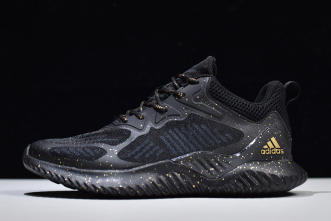 adidas Alphabounce Beyond M Black/Gold Shoes B43613 For Sale
