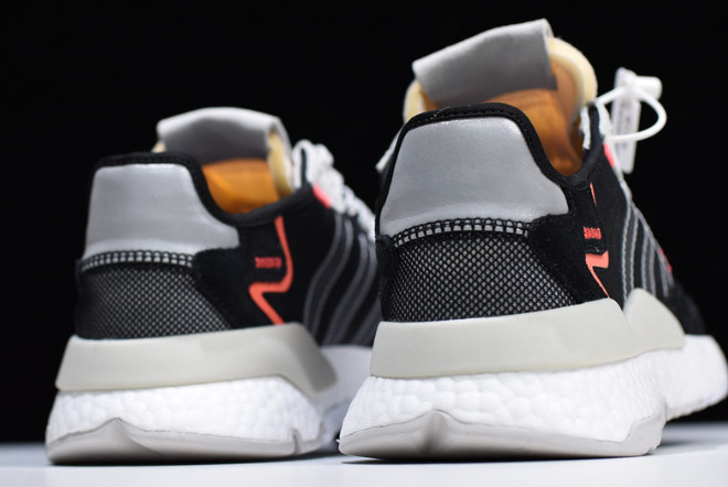 General Con carne  adidas Nite Jogger 2019 Boost Black/Wolf Grey-Orange-White EF8719