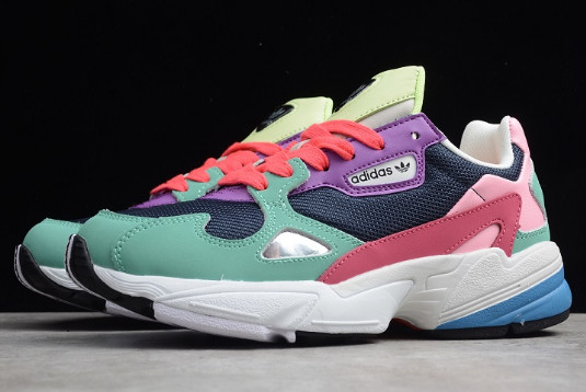 Wmns adidas Falcon Green Pink Purple White 1