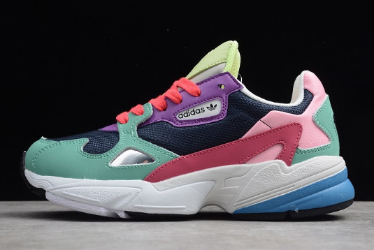 Wmns adidas Falcon Green Pink Purple White