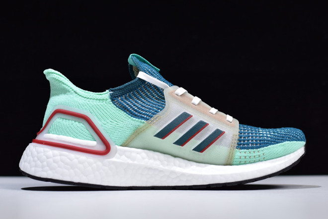 best sneakers a8bdf 80aff 2019 Consortium x adidas Ultra Boost 5.0 Teal/Red-White EE7516 For Sale