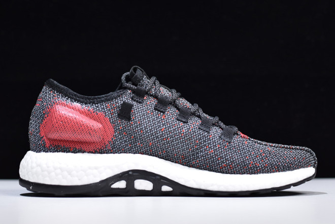 2019 adidas Pure Boost Black Red White B7777 For Sale 1
