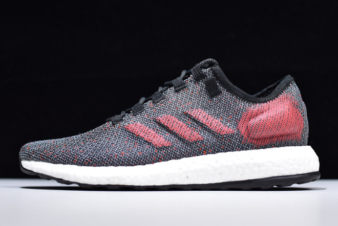 2019 adidas Pure Boost Black Red White B7777 For Sale