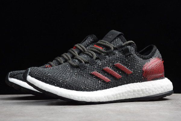 2019 adidas Pure Boost BlackVarsity Red White B37783 For Sale