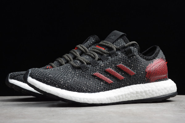 2019 adidas Pure Boost Black/Varsity Red-White B37783 For Sale