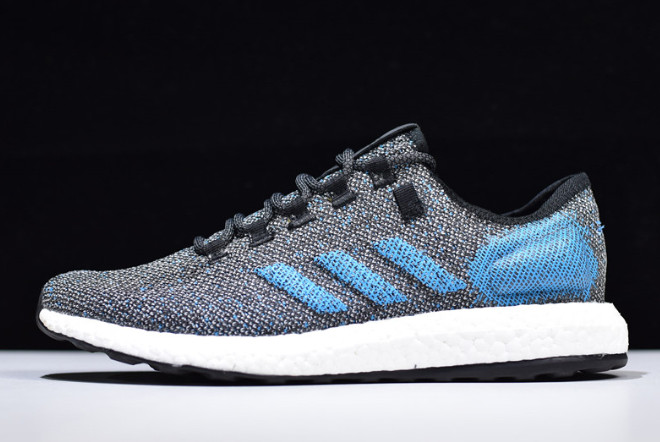 2019 adidas Pure Boost Grey Blue White B37811 For Sale
