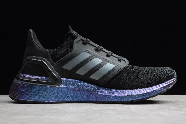 2019 adidas Ultra Boost 20 Consortium Black Blue EF0702 For Sale 1