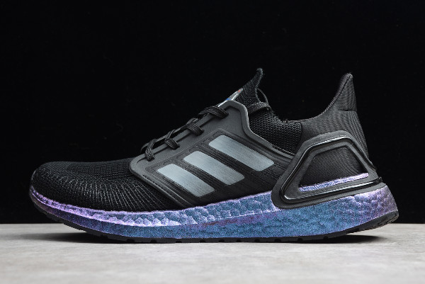 2019 adidas Ultra Boost 20 Consortium Black Blue EF0702 For Sale