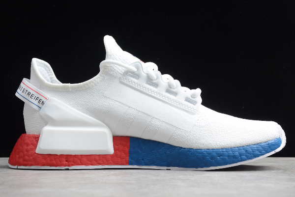 2020 Adidas NMD R1 V2 White Blue Red FX4148 For Sale 1