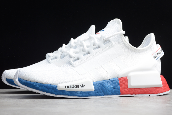 2020 Adidas NMD R1 V2 White/Blue-Red FX4148 For Sale