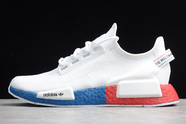 2020 Adidas NMD R1 V2 White Blue Red FX4148 For Sale