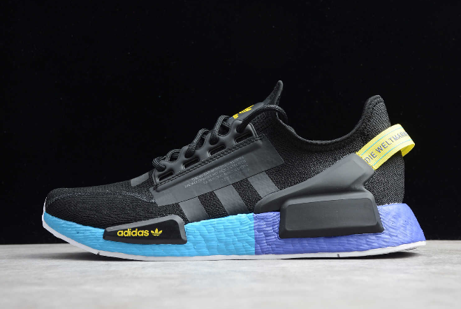 2020 Adidas Nmd R1 V2 Black Carbon Shock Yellow Fx4147 For Sale