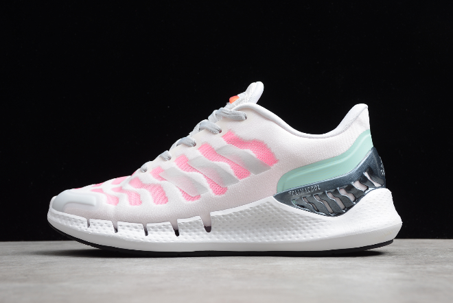 2020 Wmns adidas Climacool White/Pink-Green FW1226 For Sale