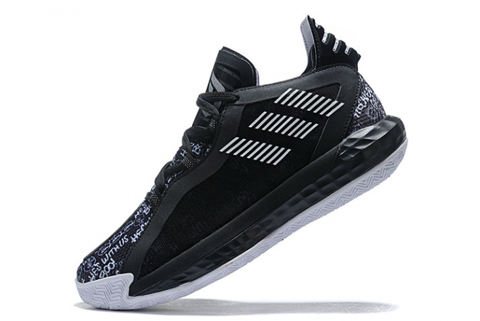 2020 adidas Dame 6 Hecklers Core Black Cloud White FU6807 For Sale 680x455