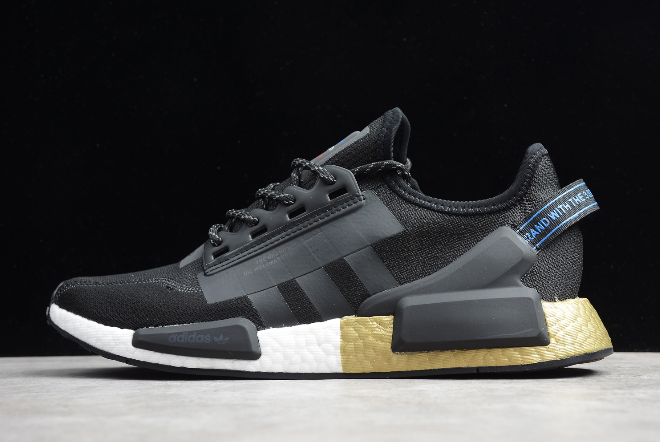 2020 Adidas Nmd R1 V2 Black Gold Metallic Fw5327 For Sale
