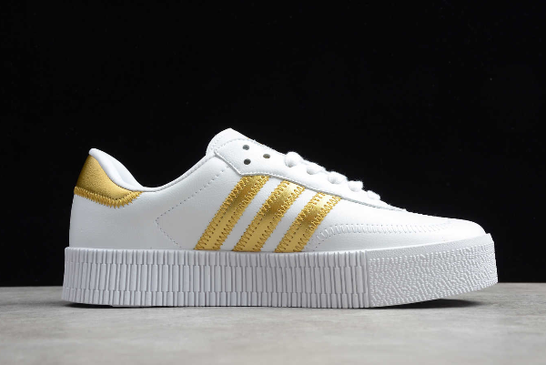 2020 Adidas Originals SambaRose W White Gold EE4681 For Sale 1