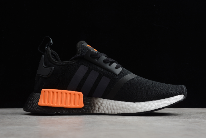 2020 Adidas Nmd R1 Core Black Solar Orange Cloud White Fw0185 For Sale