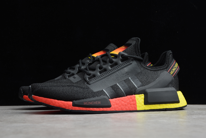 2020 Adidas Nmd R1 V2 Black Red Yellow Fy1161 For Sale