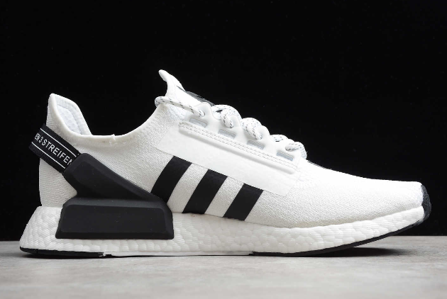 2020 adidas NMD R1 V2 White Black FV9022 For Sale 1