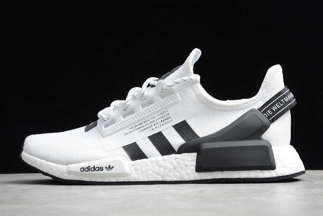 2020 adidas NMD R1 V2 White Black FV9022 For Sale