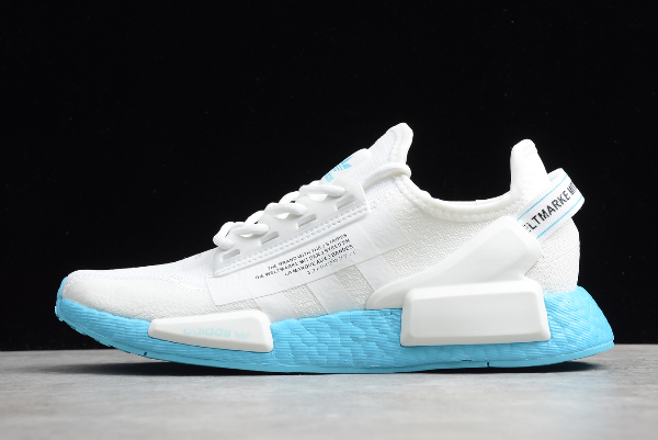 2020 Wmns Adidas Nmd R1 V2 White Blue Fx3901 For Sale