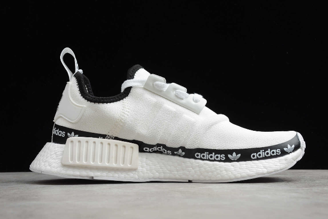 2020 adidas NMD R1 White Tape Logo FV7306 For Sale 1