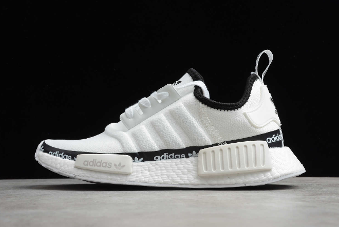 2020 adidas NMD R1 White Tape Logo FV7306 For Sale