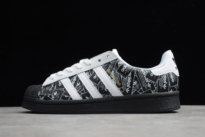 adidas superstar black and white for sale