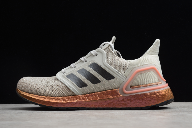 2020 adidas Ultraboost 20 Metal Grey Signal Coral FV4389 For Sale