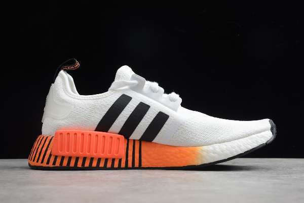 2020 Adidas Nmd R1 Glitch White Solar Red Fv3648