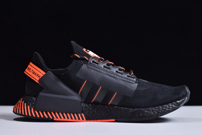 2020 adidas NMD R1 Black Orange FW6411 For Sale 1