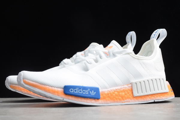 2020 Adidas Nmd R1 Cloud White Orange Fv7852 For Sale