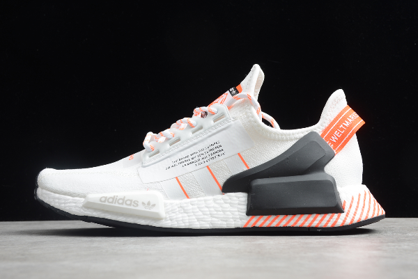 2020 Adidas Nmd R1 V2 White Solar Red Fw6410 For Sale